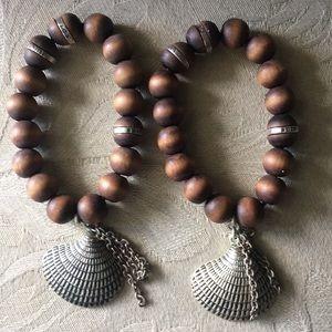 Juicy couture wood bead bracelet s